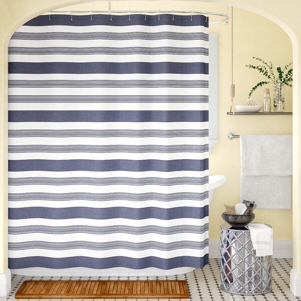 Cudney Nowell 100% Cotton Shower Curtain by Breakwater Bay
